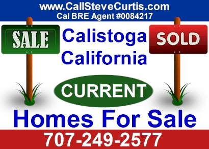 Homes for sale in Calistoga, Ca