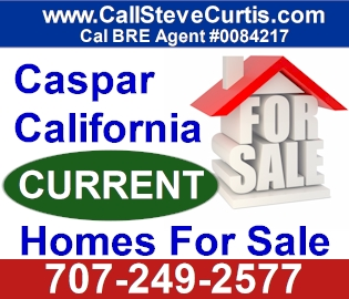 Homes for sale in Caspar, Ca