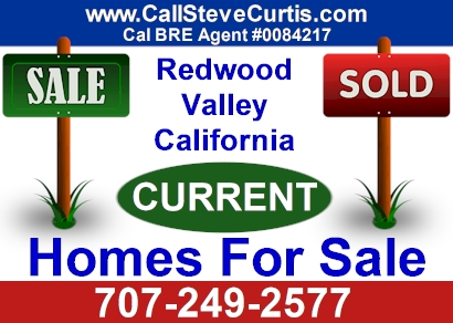 Homes for sale in Redwood Valley, Ca